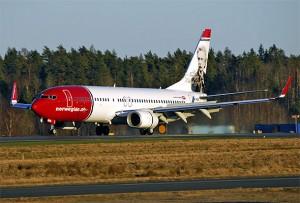 Norwegian-maskin ved landing. Fotograf: Hans Olav Nyborg/Norwegian