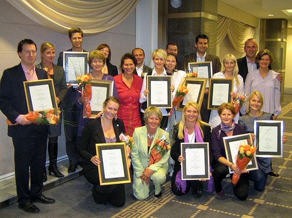 Noen av prisvinnerne i Årets Serviceløft 2008.