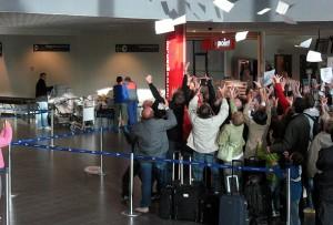 Onsdag 30. september var det billettdryss fra Ryanair på Mioss lufthavn Rygge.