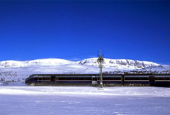 Bergensbanen på Hardangervidda. Fotograf: Rune Fossum/NSB