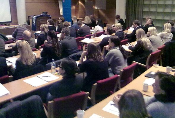 Scene fra HSMAI Reiselivsdagen i Oslo, november 2009. Mobilfoto: Jarle Petterson