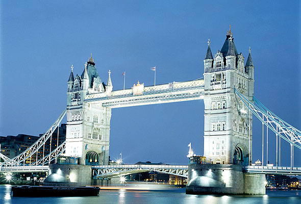 Tower Bridge i London.