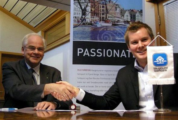 Tore Gautesen, Destinasjon Haugesund & Haugalandet AS, og Knut Grinde Jacobsen, Haugesund Sparebank