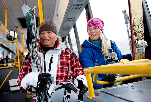 Skibussen i Hemsedal (Foto: Hemsedal skisenter)