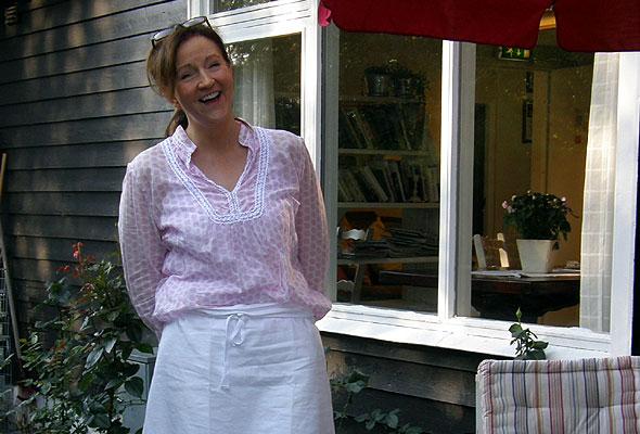 Margrethe Horne, vertinne ved Tønsberg vandrerhjem.