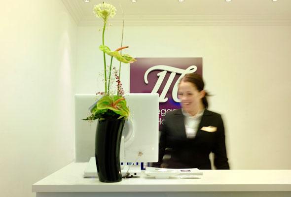 Resepsjonen i Myhregaarden Hotell i Stavanger