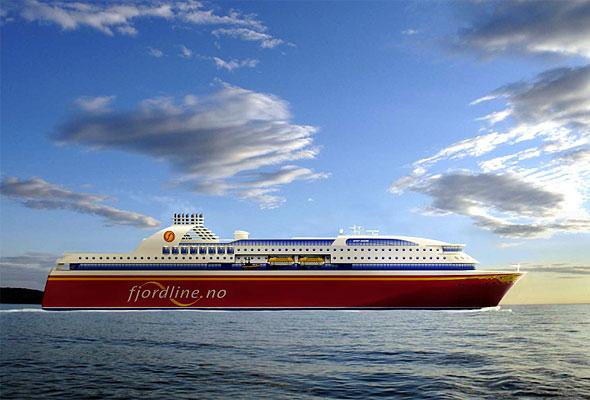 Et av Fjord Lines nye skip, hentet fra en presentasjon fra rederiet
