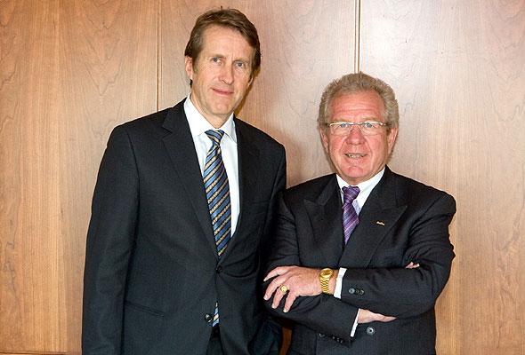 Per Mortensen, administrerende direktør i Linstow og Kurt Ritter, president & CEO i Rezidor