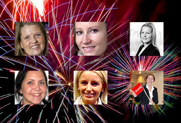 Christina Klevan Alstad, Kaia Gregory, Anette M. Koefoed, Hege Lund, Lise Solheim og Elizabeth Rojas Vik (kollage: HSMAI.no)