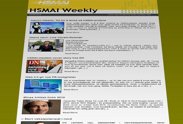 Faksimile av HSMAI Weekly
