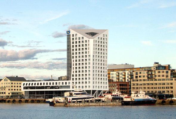 Det nye Rica-hotellet i Bodø, som skal stå klart i 2013 (foto fra Rica Hotels)