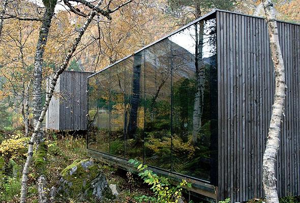 Juvet landskapshotell. Foto fra Knut Slinnings nettbaserte galleri