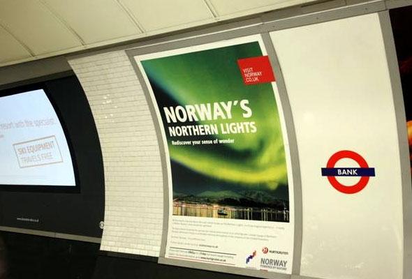Nordlyskampanjen på t-banen i London