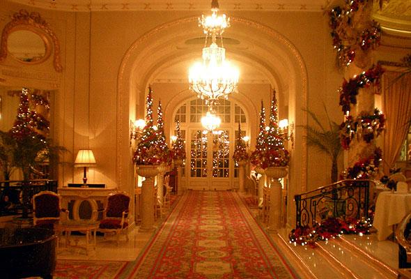 Juledekorasjoner på Ritz