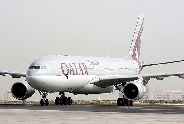 En Airbus-maskin fra Qatar Airways