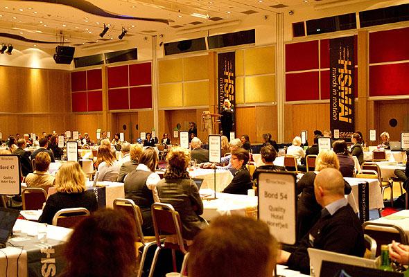 Fra møtesalen under HSMAI Møtebørsen 2011 på Radisson Blu Scandinavia Hotel. Fotograf: Catharina Wandrup/Knut Joner