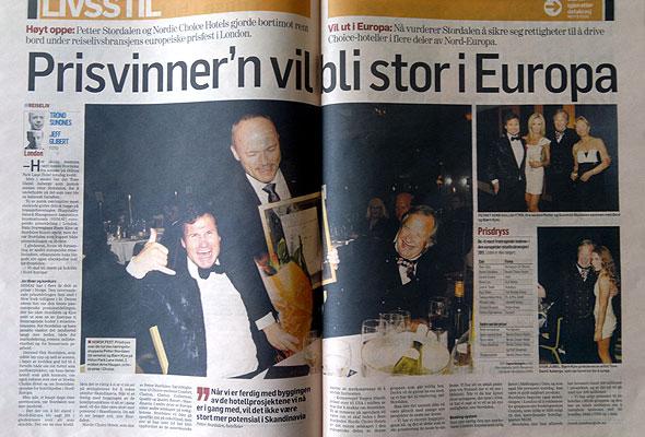 Oppslag i Dagens Næringsliv lørdag 7. mai 2011