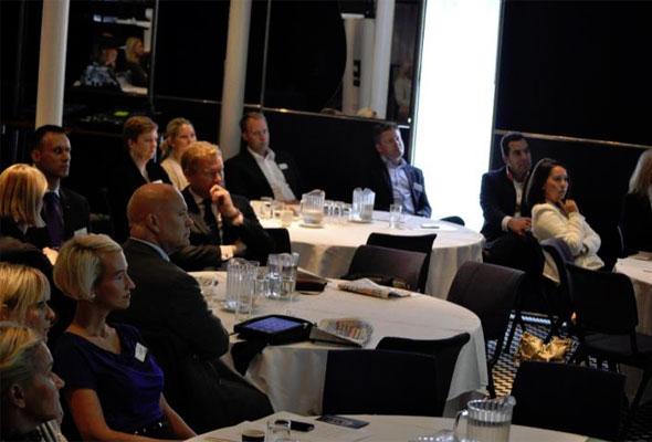 Tilhørerne fulgte interessert med på HSMAI GM Forum 2011.