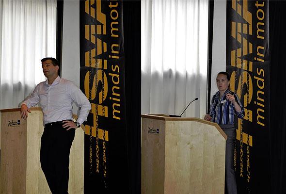 Espen Holm og Sarah Duignan på HSMAI GM Forum 2011.