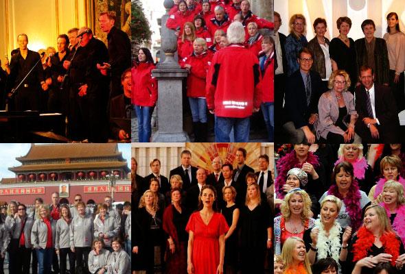 Oslo reiselivskor. Montasje fra forskjellige ORK-opptredener og -utflukter