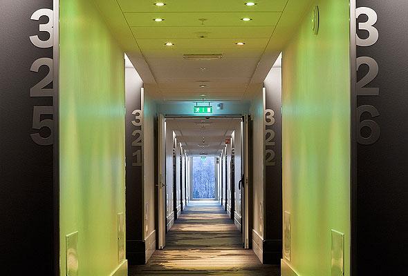 Interiør fra Scandic Oslo Airport (foto fra Norsk Designråd)
