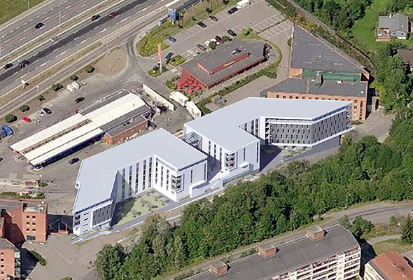Radisson Blu Alna og Park Inn by Radisson Alna, på Alna i Oslo (Foto fra Rezidor Hotel Group)