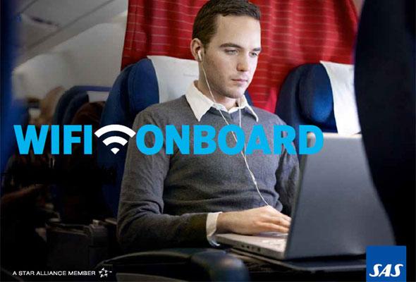 WiFi Onboard. Trådløst Internett ombord hos SAS.