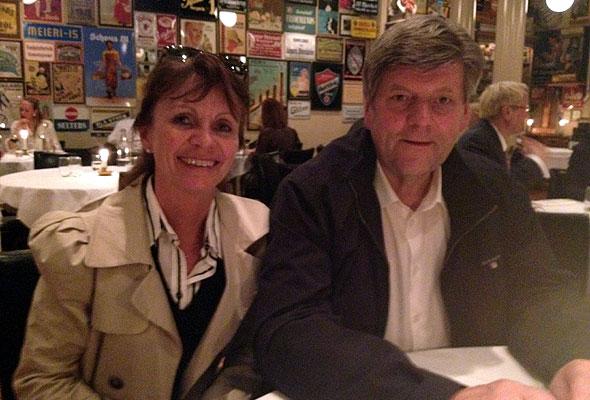 Hege Ramm fra Best Western og tidligere statsråd Ansgar Gabrielsen på BTC i Oslo 28. mars 2012.