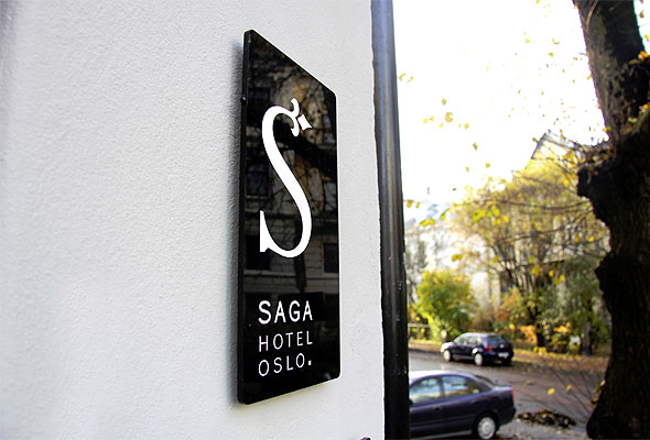 Saga Hotel Oslo og Apall Design fikk Merket for god design for hotellets nye profilprogram. Foto: Trine Thorsen/Apall Design