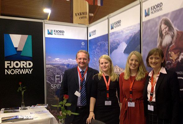 Fjord Norge på messe, med ny visuelle profil.