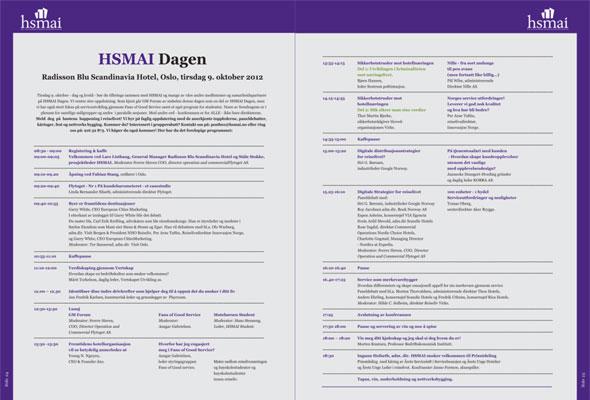 Klikk for å lese programmet for HSMAI-dagen 2012 -- og mer