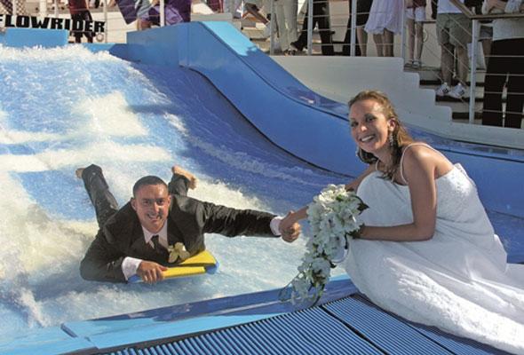Bryllup på cruiseskip. Foto fra RCCL