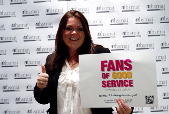 Anita Hofseth. Fans of good service