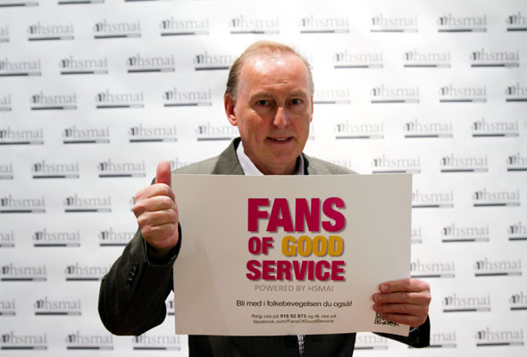 Hans Kristiansen. Fans of good service