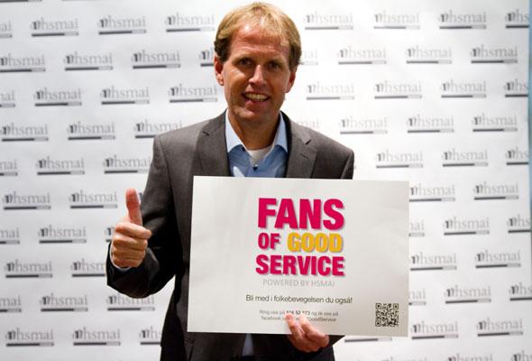 Leiv Roda. Fans of good service