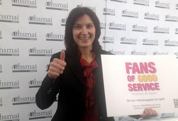 May Britt Hansen. Fans of good service