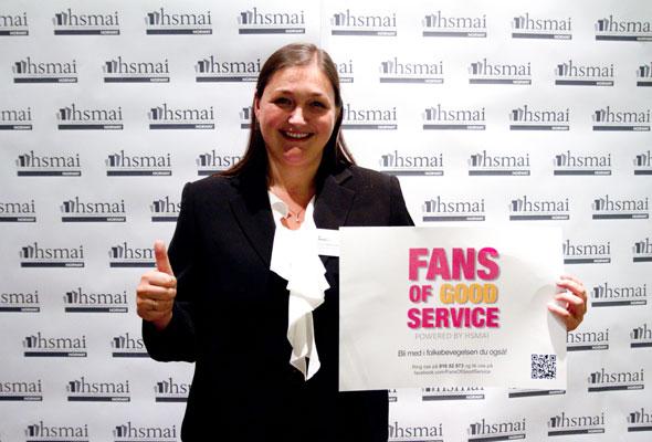 Silvia Jøhl Fartum. Fans of good service