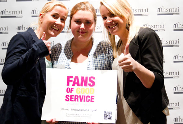 Studenter. Fans of good service