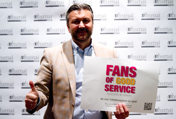 Svein Arild Mevold. Fans of good service