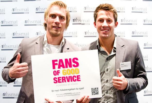 To menn. Fans of good service