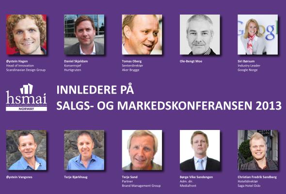 Innlederne på HSMAIs salgs- og markedsføringskonferanse i Oslo 10. januar 2013
