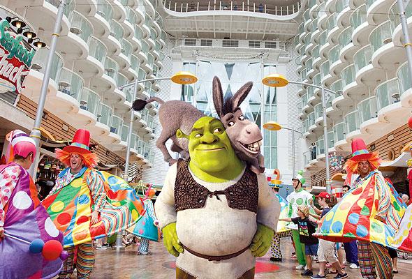 Shrek på cruise med RCCL. Foto fra RCCL