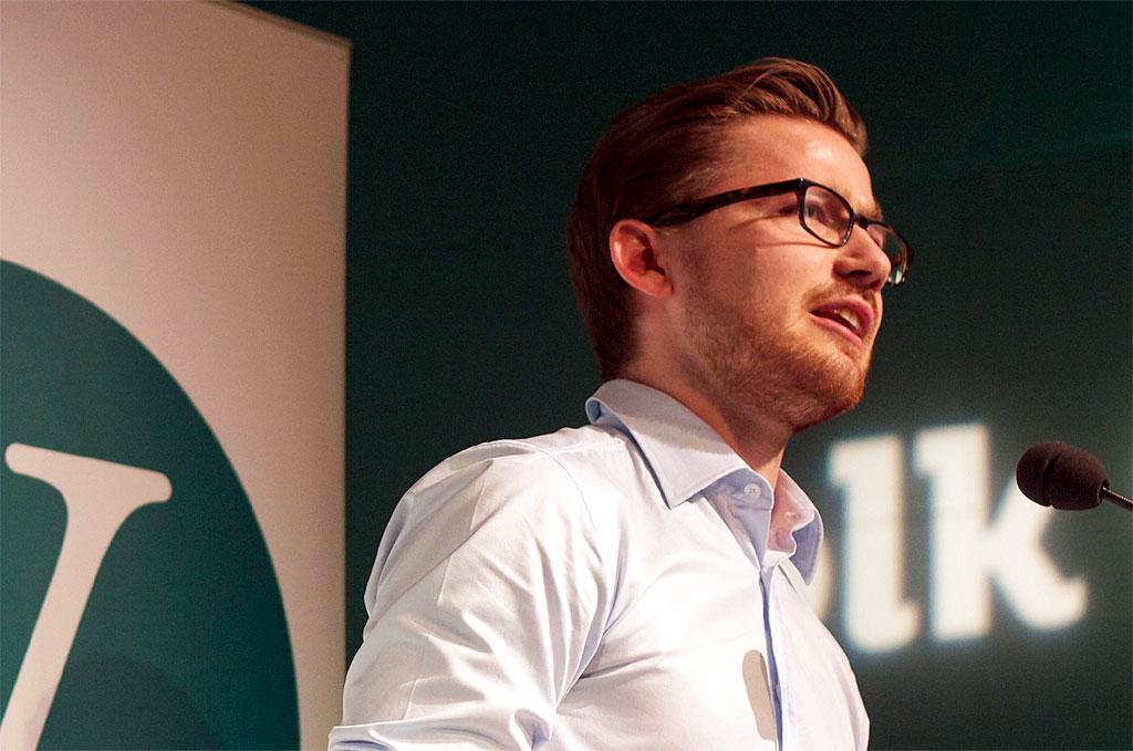 Unge Venstre-leder Sveinung Rotevatn. Foto fra Unge Venstre