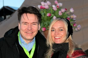 Per-Arne Tuftin, reiselivsdirektør i Innovasjon Norge, og Linda M. Ramberg, reiselivsdirektør i Destinasjon Røros, under NTW på Røros, april 2013. Foto fra Destinasjon Røros