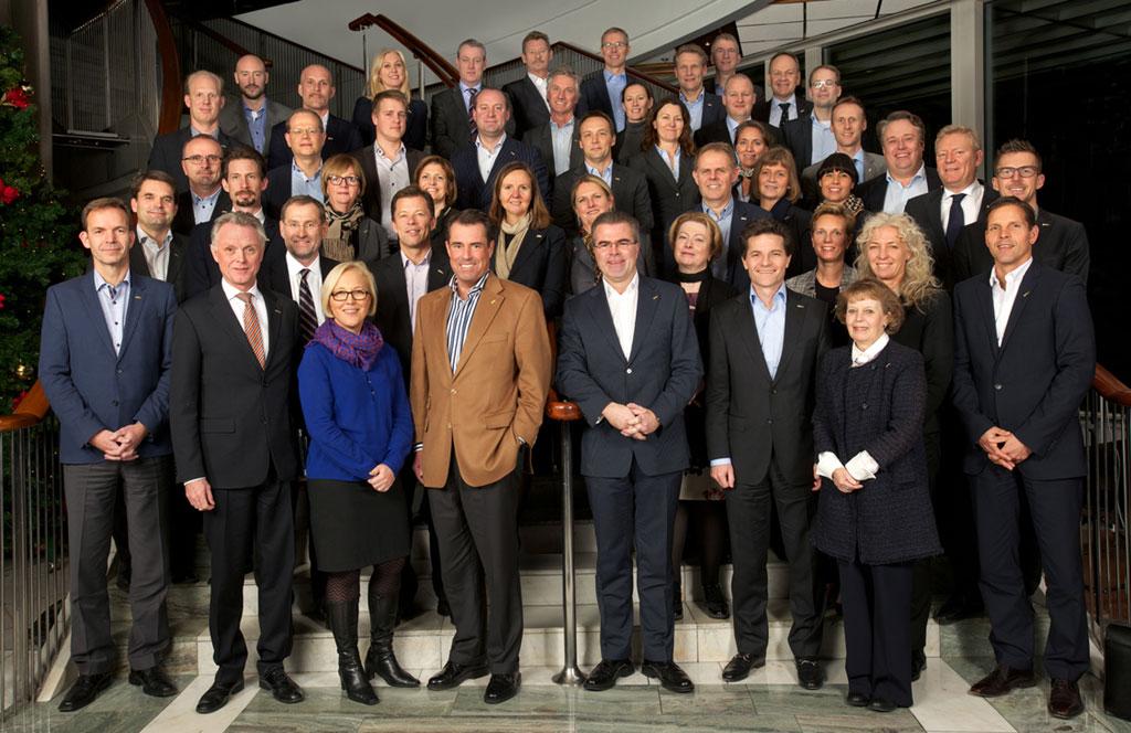 Deltakerne på det karbonfrie Carlson Rezidor-møtet på Radisson Blu Oslo Plaza.