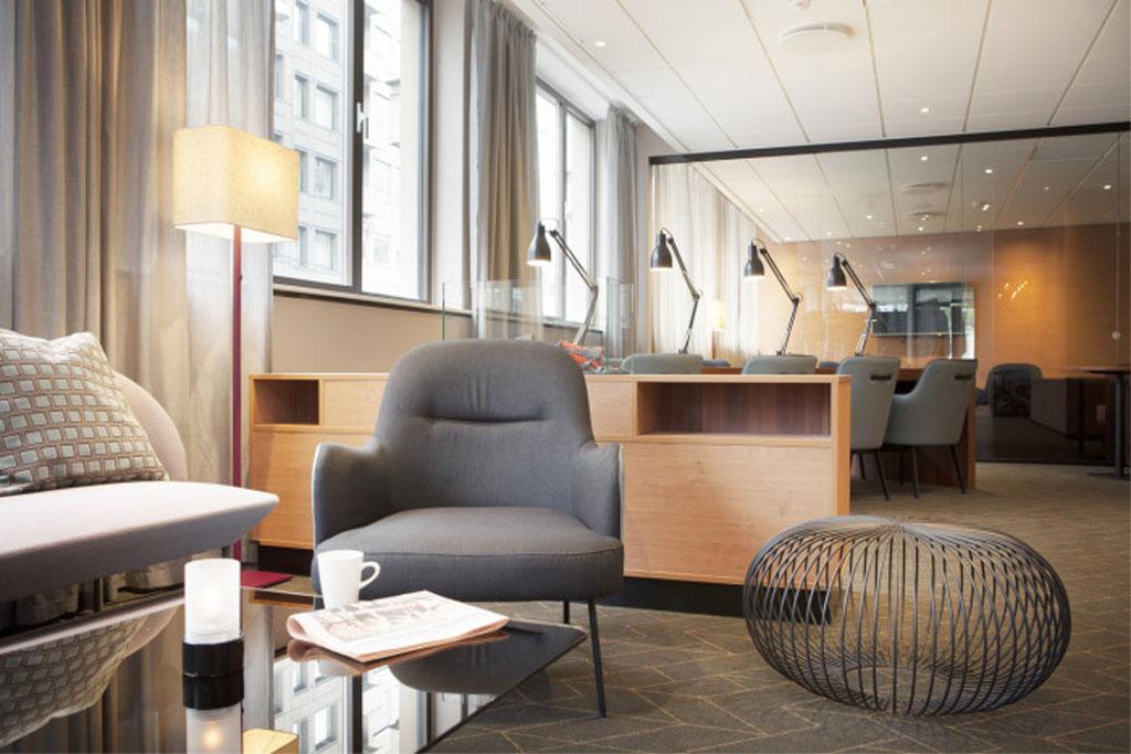 Interiør fra Scandic Solli. Foto fra Scandic Hotels.
