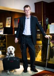 Scandic Hotels' tilgjengelighetsdirektør, Magnus Berglund. Foto fra Scandic