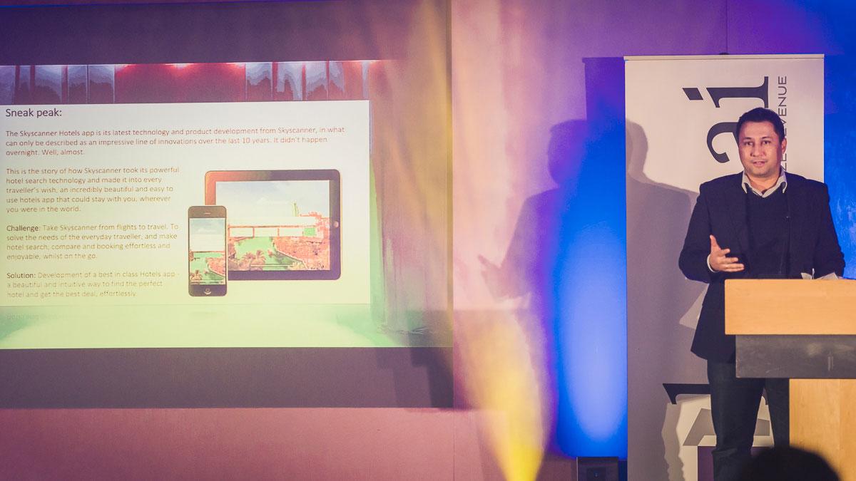 "Skyscanner vant kategorien ""Best in Class"" teknologi – Innovasjon. Fotograf: Gunnar Kopperud/Netta Nyman, PhotoWalk/Konferansefotografering"