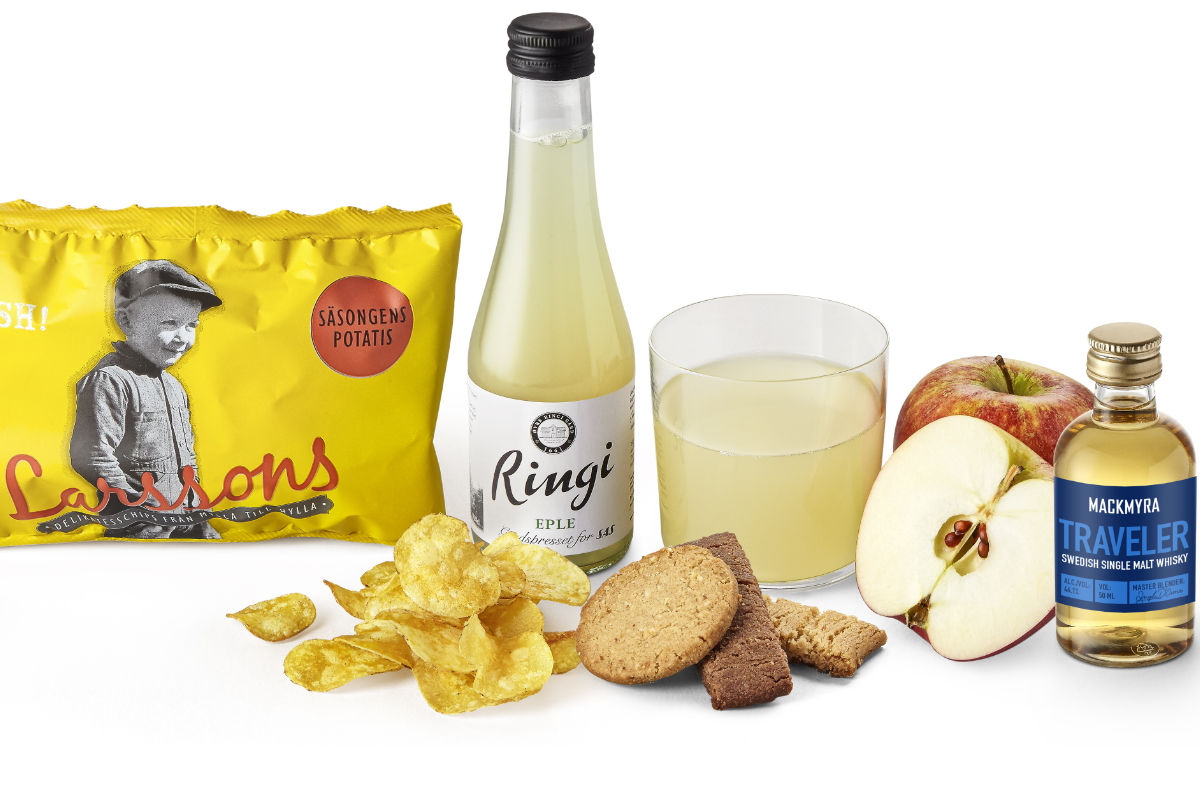 SAS' nye produkter innenfor snacks og drikke på rutene i Skandinavia og Europa. Foto fra SAS.