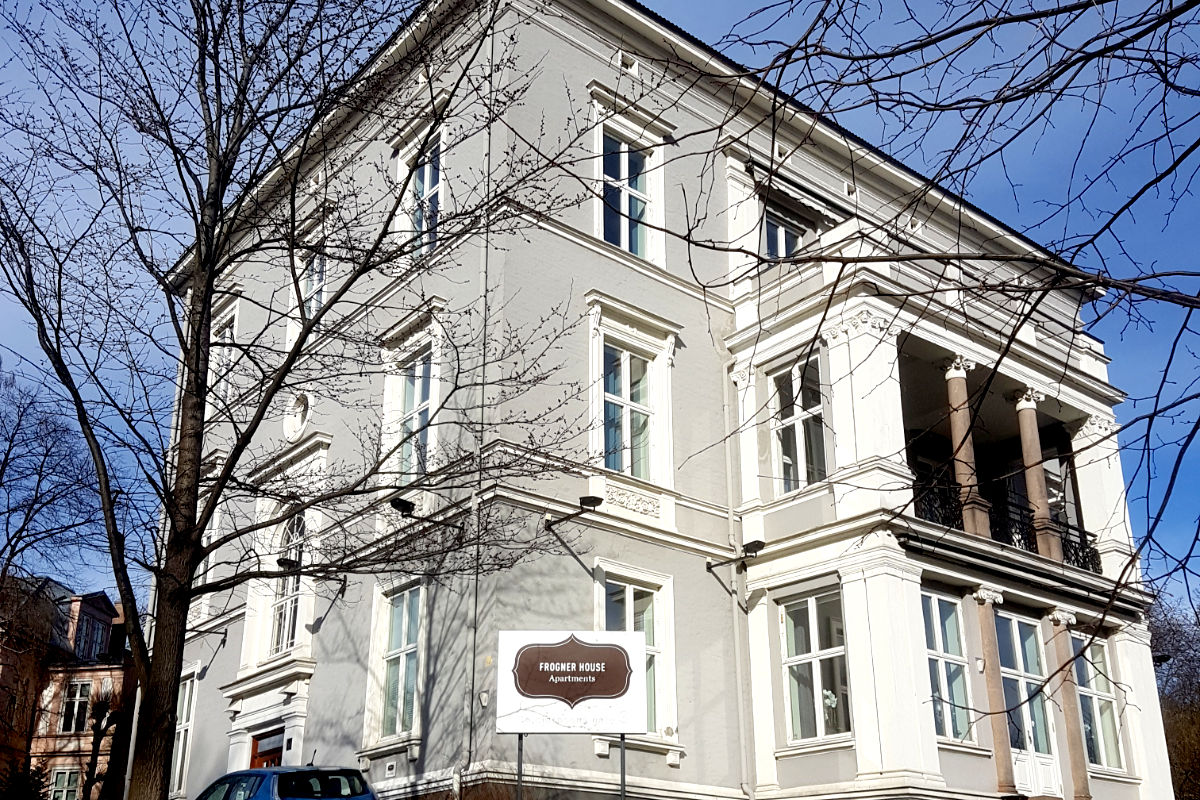 Åsted for det første møtet i HSMAIs uformelle forum for Service Apartments, Frogner House Apartments i Oslo.
